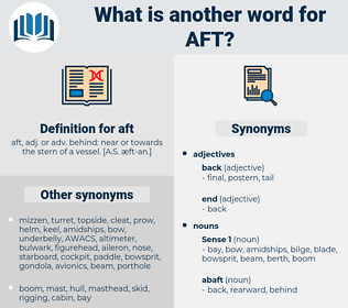 aft, synonym aft, another word for aft, words like aft, thesaurus aft
