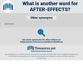 after-effects, synonym after-effects, another word for after-effects, words like after-effects, thesaurus after-effects