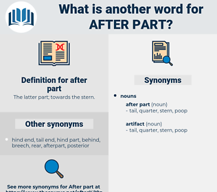 after part, synonym after part, another word for after part, words like after part, thesaurus after part