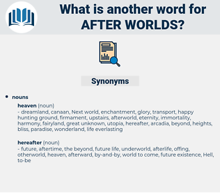 after worlds, synonym after worlds, another word for after worlds, words like after worlds, thesaurus after worlds