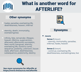 afterlife, synonym afterlife, another word for afterlife, words like afterlife, thesaurus afterlife