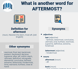 aftermost, synonym aftermost, another word for aftermost, words like aftermost, thesaurus aftermost