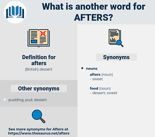 afters, synonym afters, another word for afters, words like afters, thesaurus afters