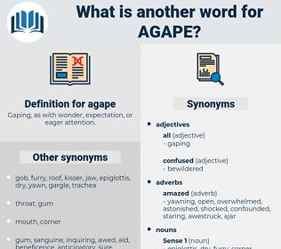 agape, synonym agape, another word for agape, words like agape, thesaurus agape