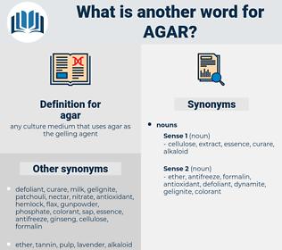 agar, synonym agar, another word for agar, words like agar, thesaurus agar