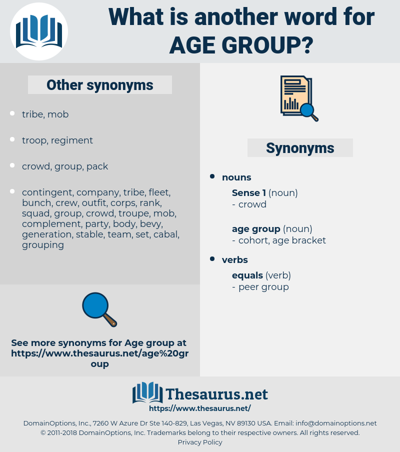 age group, synonym age group, another word for age group, words like age group, thesaurus age group