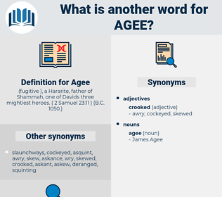 Agee, synonym Agee, another word for Agee, words like Agee, thesaurus Agee
