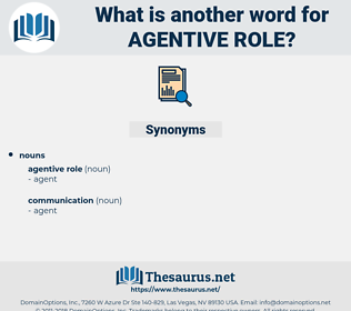 agentive role, synonym agentive role, another word for agentive role, words like agentive role, thesaurus agentive role