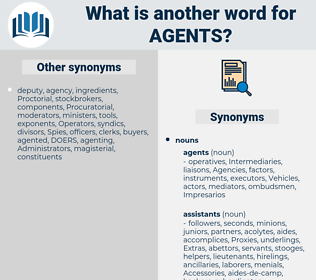 agents, synonym agents, another word for agents, words like agents, thesaurus agents