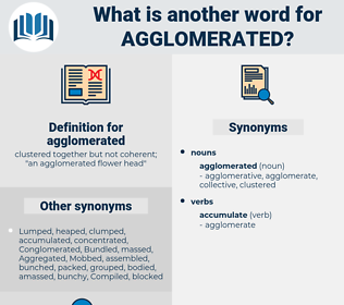 agglomerated, synonym agglomerated, another word for agglomerated, words like agglomerated, thesaurus agglomerated