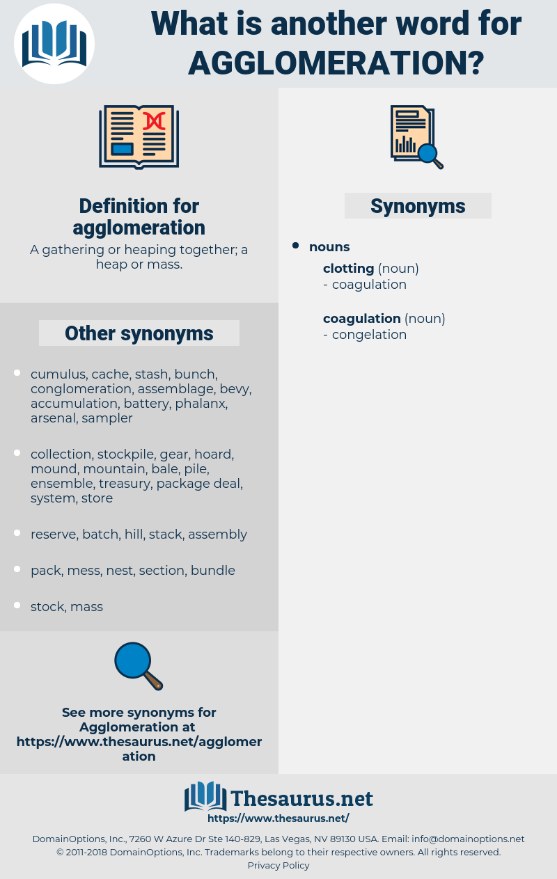 agglomeration, synonym agglomeration, another word for agglomeration, words like agglomeration, thesaurus agglomeration