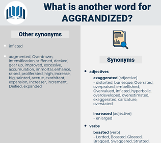 Aggrandized, synonym Aggrandized, another word for Aggrandized, words like Aggrandized, thesaurus Aggrandized