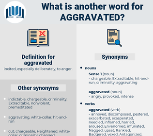 aggravated, synonym aggravated, another word for aggravated, words like aggravated, thesaurus aggravated
