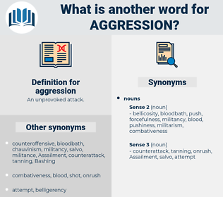 aggression, synonym aggression, another word for aggression, words like aggression, thesaurus aggression