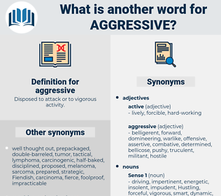 aggressive, synonym aggressive, another word for aggressive, words like aggressive, thesaurus aggressive