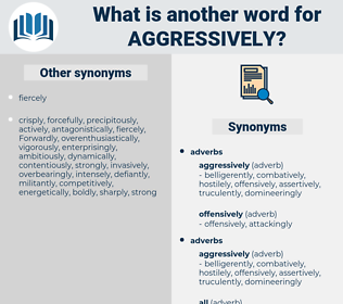 aggressively, synonym aggressively, another word for aggressively, words like aggressively, thesaurus aggressively