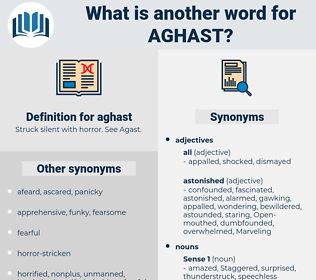 aghast, synonym aghast, another word for aghast, words like aghast, thesaurus aghast