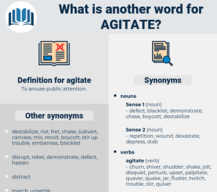 agitate, synonym agitate, another word for agitate, words like agitate, thesaurus agitate
