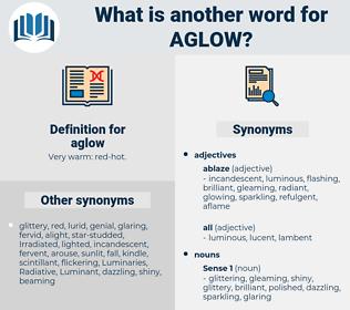 aglow, synonym aglow, another word for aglow, words like aglow, thesaurus aglow