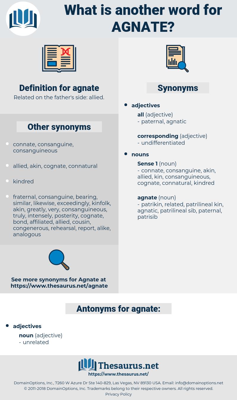 agnate, synonym agnate, another word for agnate, words like agnate, thesaurus agnate