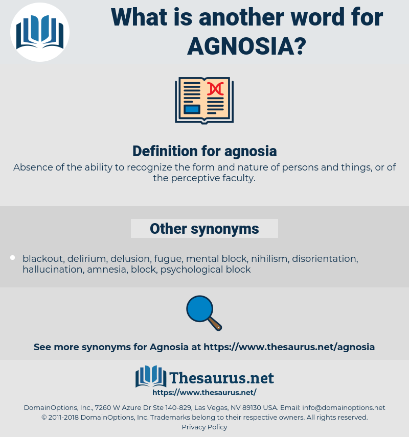 agnosia, synonym agnosia, another word for agnosia, words like agnosia, thesaurus agnosia