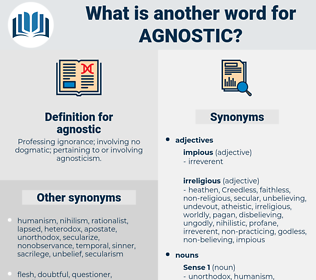 agnostic, synonym agnostic, another word for agnostic, words like agnostic, thesaurus agnostic