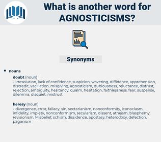 agnosticisms, synonym agnosticisms, another word for agnosticisms, words like agnosticisms, thesaurus agnosticisms