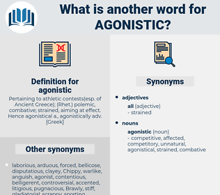 agonistic, synonym agonistic, another word for agonistic, words like agonistic, thesaurus agonistic