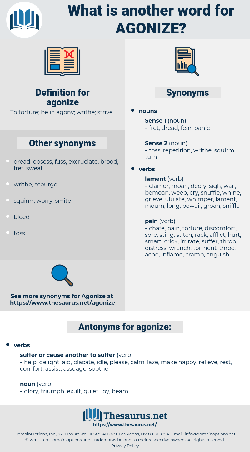agonize, synonym agonize, another word for agonize, words like agonize, thesaurus agonize