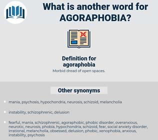 agoraphobia, synonym agoraphobia, another word for agoraphobia, words like agoraphobia, thesaurus agoraphobia