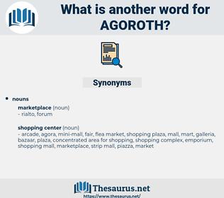 agoroth, synonym agoroth, another word for agoroth, words like agoroth, thesaurus agoroth