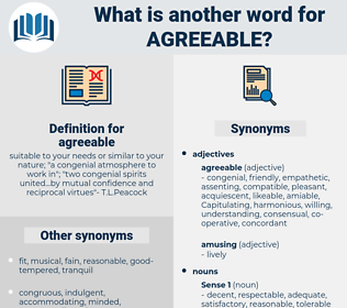 agreeable, synonym agreeable, another word for agreeable, words like agreeable, thesaurus agreeable