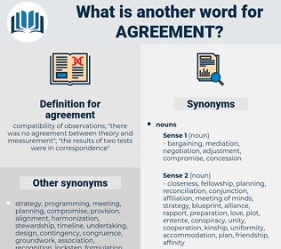 agreement, synonym agreement, another word for agreement, words like agreement, thesaurus agreement