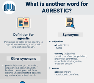 agrestic, synonym agrestic, another word for agrestic, words like agrestic, thesaurus agrestic