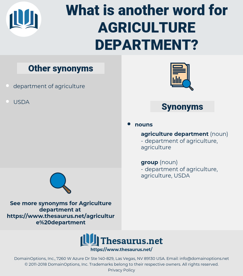 agriculture department, synonym agriculture department, another word for agriculture department, words like agriculture department, thesaurus agriculture department
