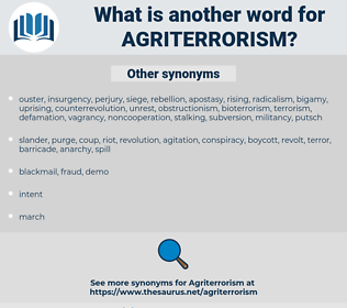 agriterrorism, synonym agriterrorism, another word for agriterrorism, words like agriterrorism, thesaurus agriterrorism