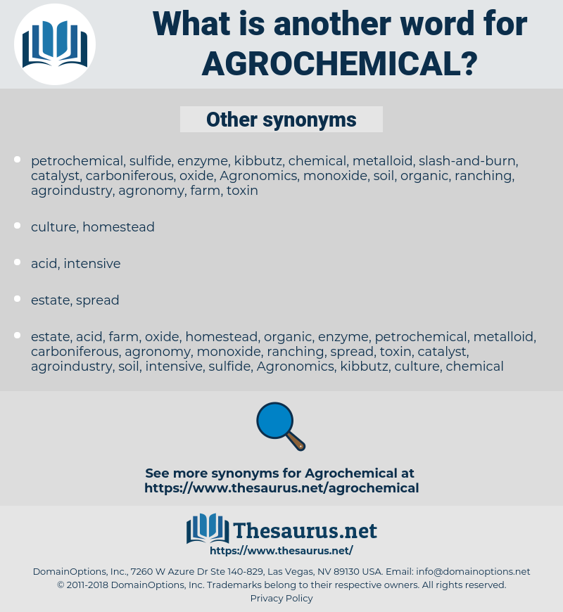agrochemical, synonym agrochemical, another word for agrochemical, words like agrochemical, thesaurus agrochemical