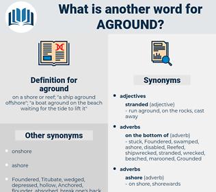 aground, synonym aground, another word for aground, words like aground, thesaurus aground