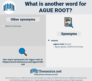 ague root, synonym ague root, another word for ague root, words like ague root, thesaurus ague root