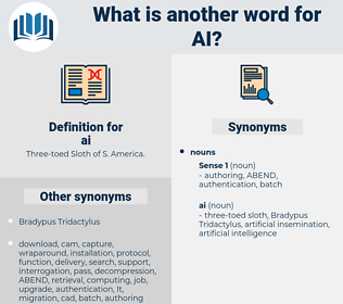 ai, synonym ai, another word for ai, words like ai, thesaurus ai