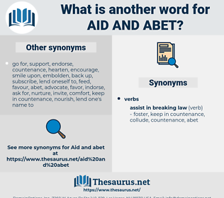 aid and abet, synonym aid and abet, another word for aid and abet, words like aid and abet, thesaurus aid and abet