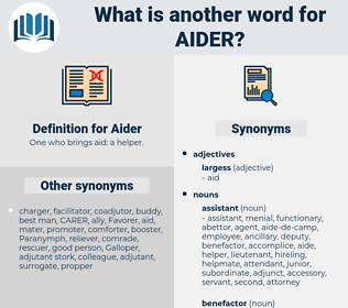 Aider, synonym Aider, another word for Aider, words like Aider, thesaurus Aider