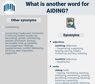Aiding, synonym Aiding, another word for Aiding, words like Aiding, thesaurus Aiding