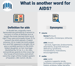 aids, synonym aids, another word for aids, words like aids, thesaurus aids