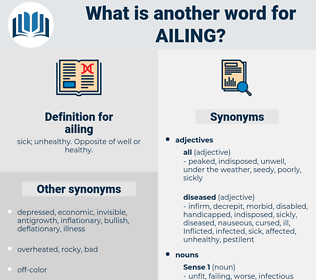 ailing, synonym ailing, another word for ailing, words like ailing, thesaurus ailing