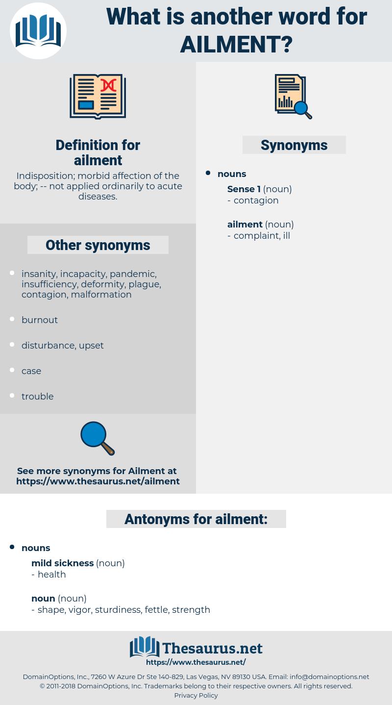ailment, synonym ailment, another word for ailment, words like ailment, thesaurus ailment