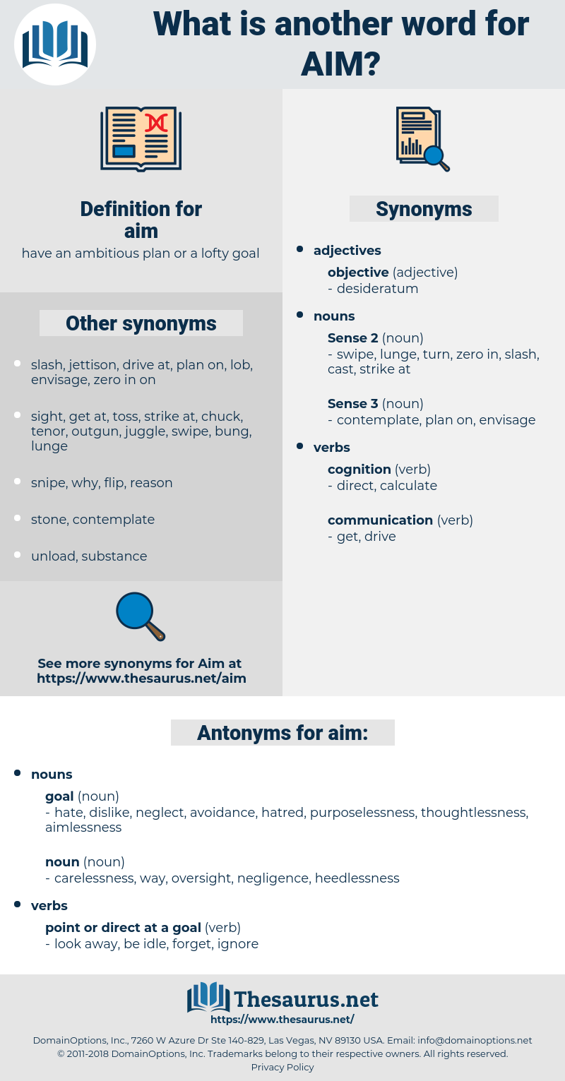 aim, synonym aim, another word for aim, words like aim, thesaurus aim