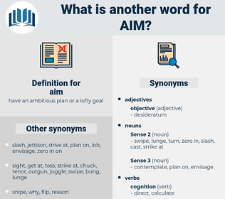aim, synonym aim, another word for aim, words like aim, thesaurus aim