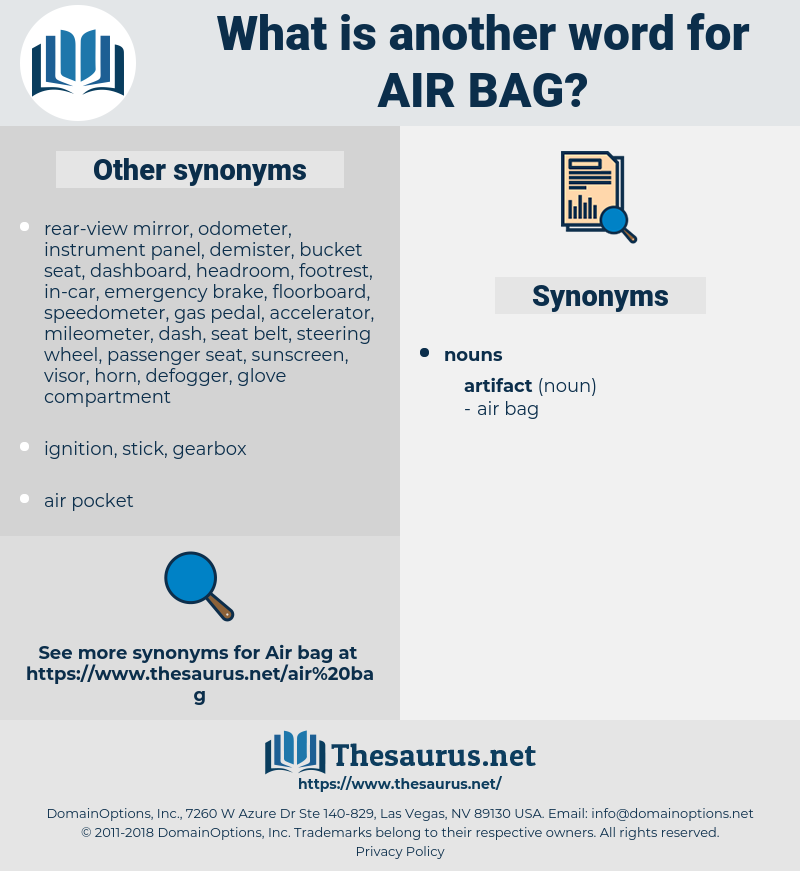 air bag, synonym air bag, another word for air bag, words like air bag, thesaurus air bag