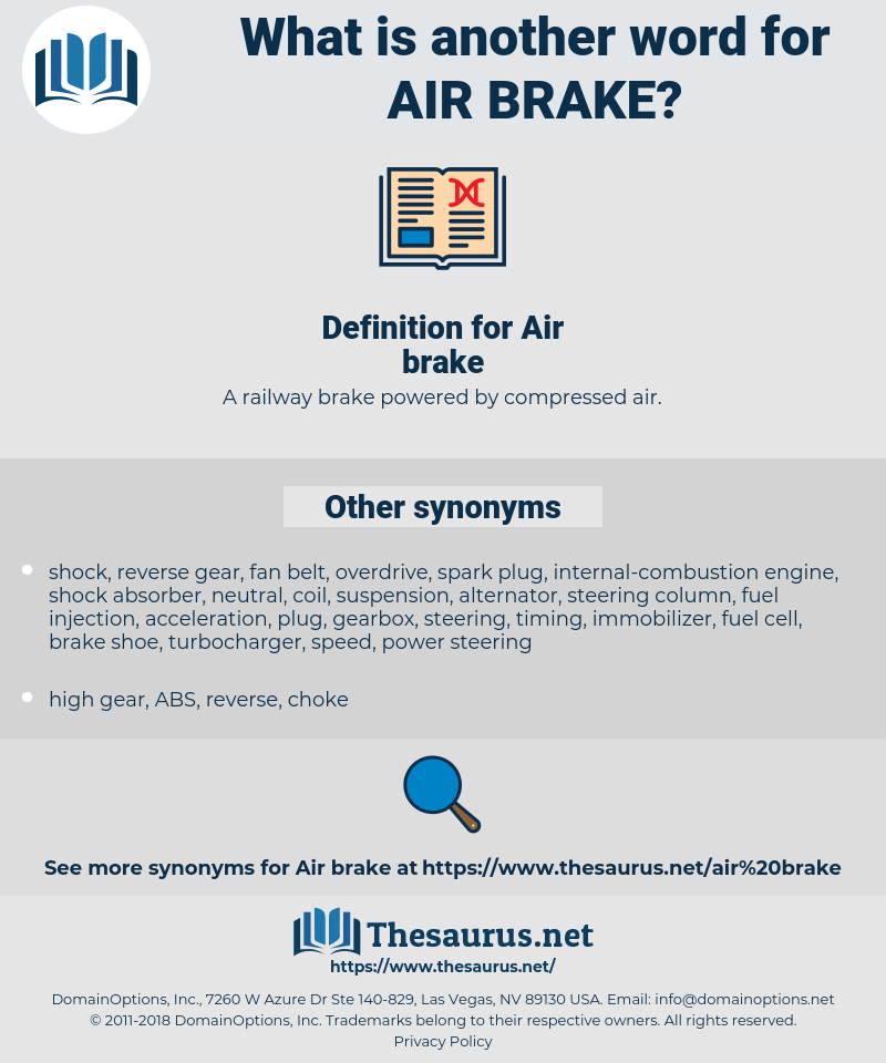 Air brake, synonym Air brake, another word for Air brake, words like Air brake, thesaurus Air brake
